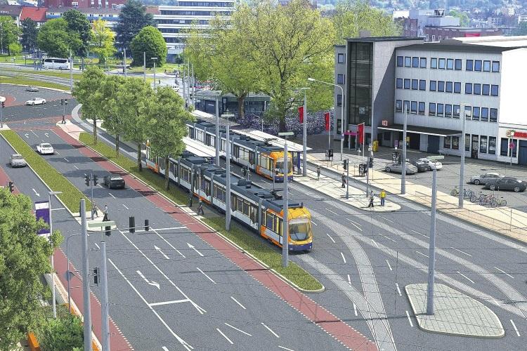 Visualisierung der neuen Haltestelle am Hauptbahnhof (Grafik: rnv)